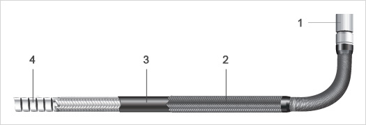 Insertion tube resists crushing and abrasion