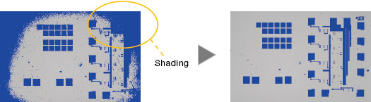 Entirely Clear Image : Image Shading Correction