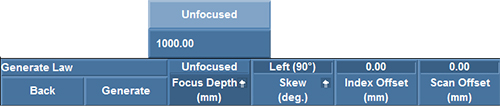 Figure 5: Setting the focus depth to Unfocused